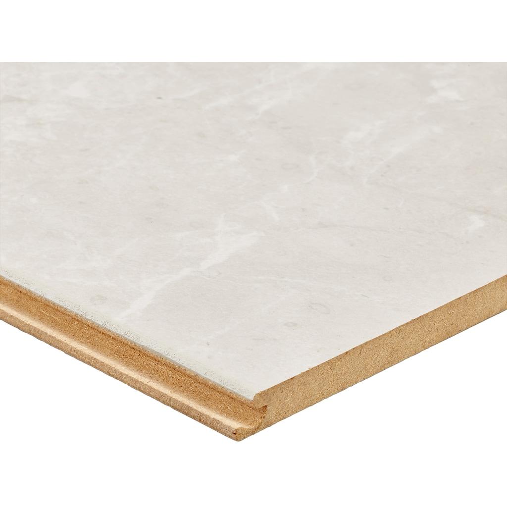 BODENMEISTER Packung: Laminat »Fliesenoptik Granit hell weiß«, 60 x 30 cm Fliese, Stärke: 8 mm