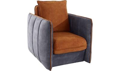 INOSIGN Polstergarnitur »Tiny Mike«, (2 tlg.), Verwandlungssessel - Hocker im Sessel versteckt, mit Keder und feiner Steppung, Breite 94 cm kaufen
