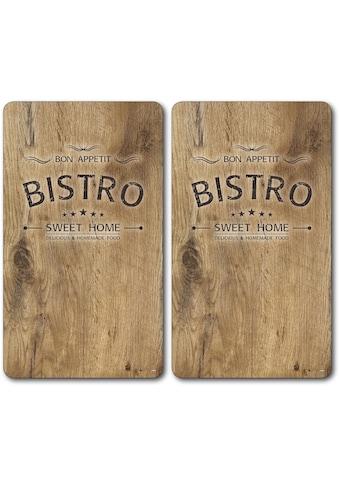 """KESPER for kitchen & home Schneide -  und Abdeckplatte """"Bistro"""", ESG - Sicherheitsglas, (Set, 2 - tlg.) kaufen"""
