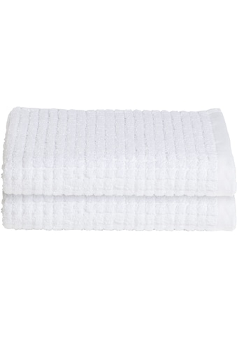Seahorse Handtücher »Cube«, (2 St.), mit stilvollem Blockmuster kaufen