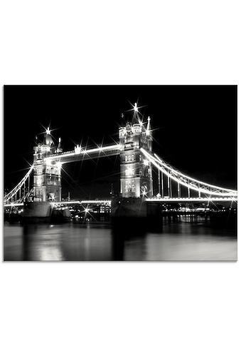 Artland Glasbild »Tower Bridge London«, Brücken, (1 St.) kaufen
