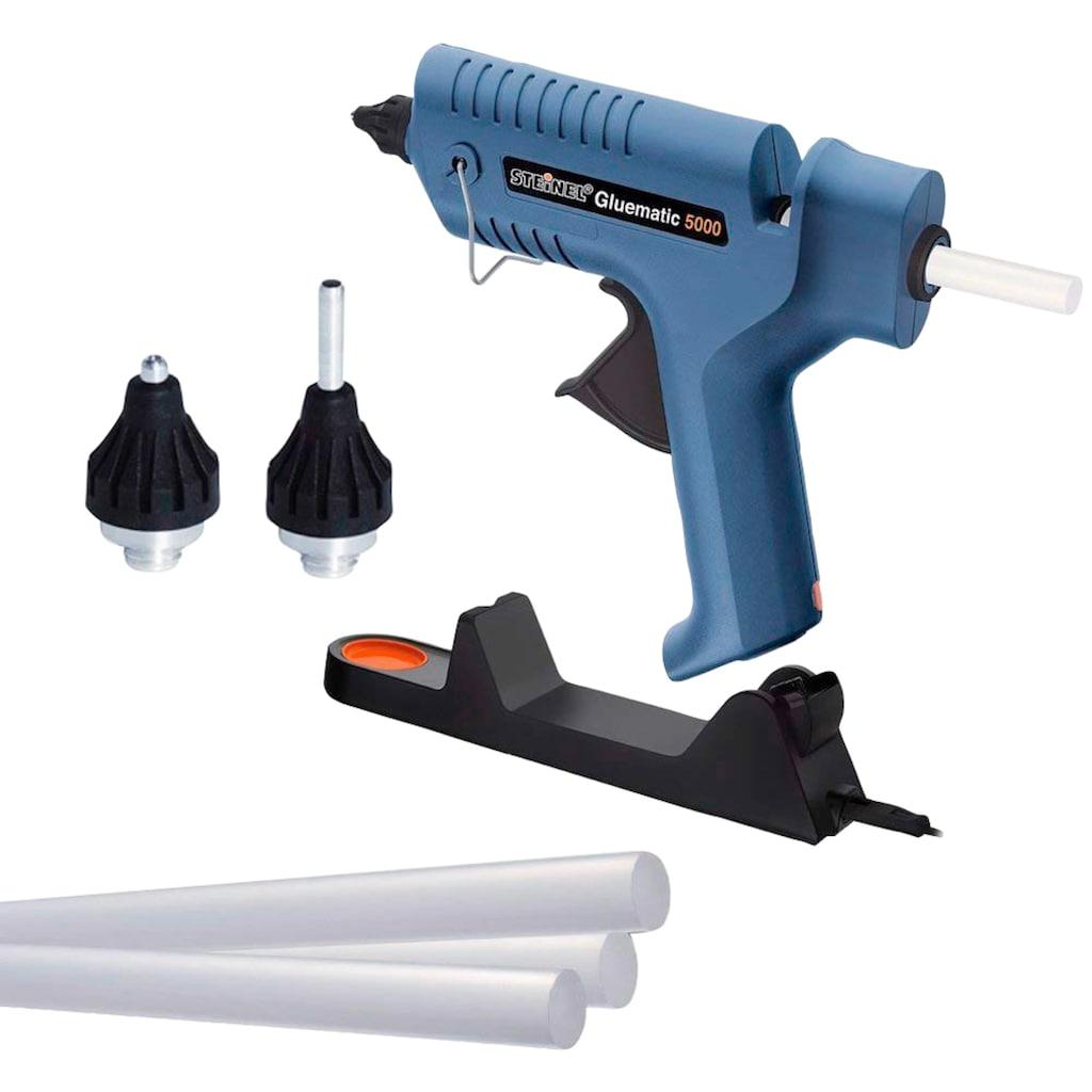 steinel Heißklebepistole »Gluematic 5000«, wechselbare Düsen, hohe Fördermenge, kabellos, Ablageständer