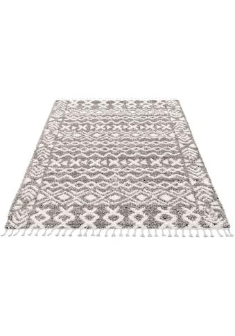Hochflor - Teppich, »Pulpy 514«, Carpet City, rechteckig, Höhe 30 mm, maschinell gewebt kaufen