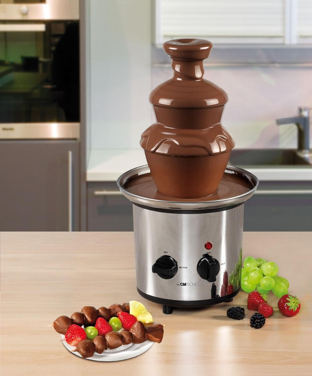 CLATRONIC Schokoladenbrunnen SKB 3248 | Küche und Esszimmer > Küchengeräte > Fondue | Silberfarben | CLATRONIC