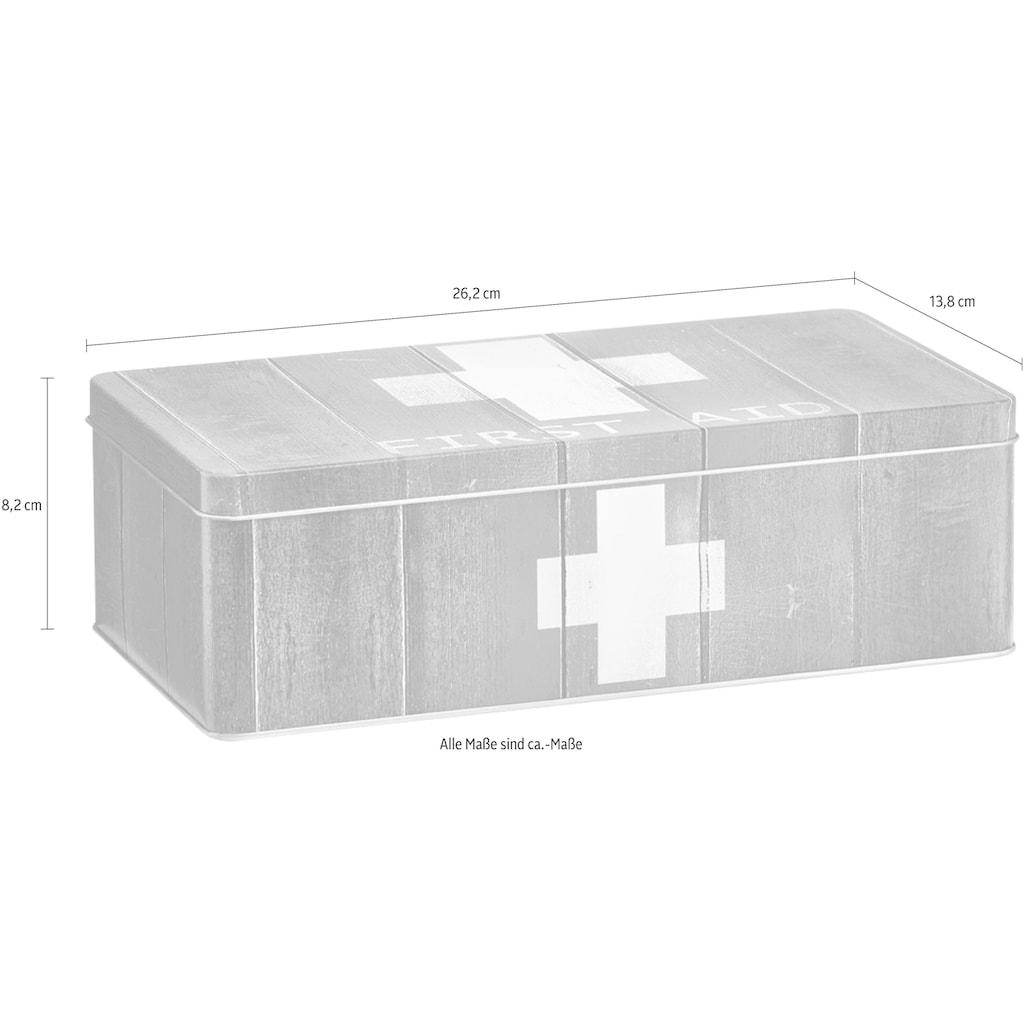 Zeller Present Aufbewahrungsbox »First Aid«, Metall, rot