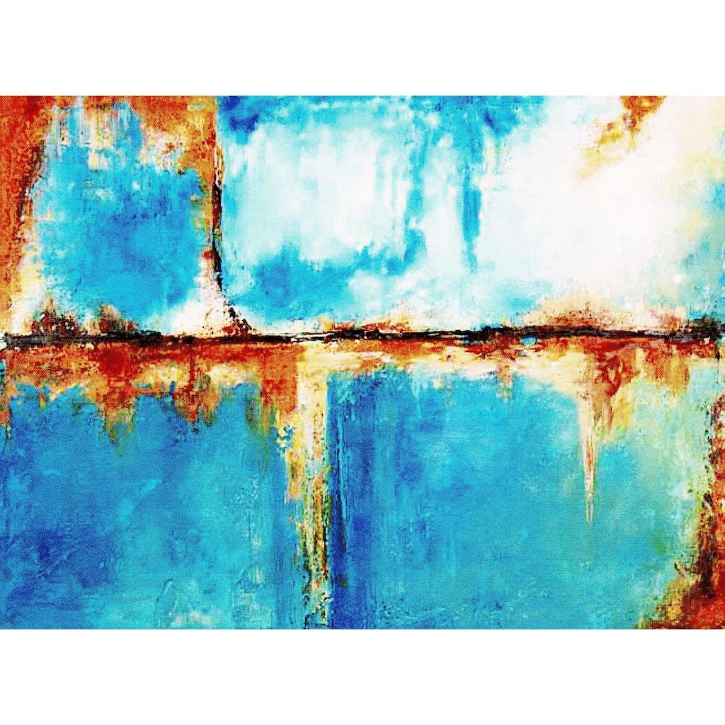my home Gemälde »Blauer Horizont«, (80/3,5/60 cm)