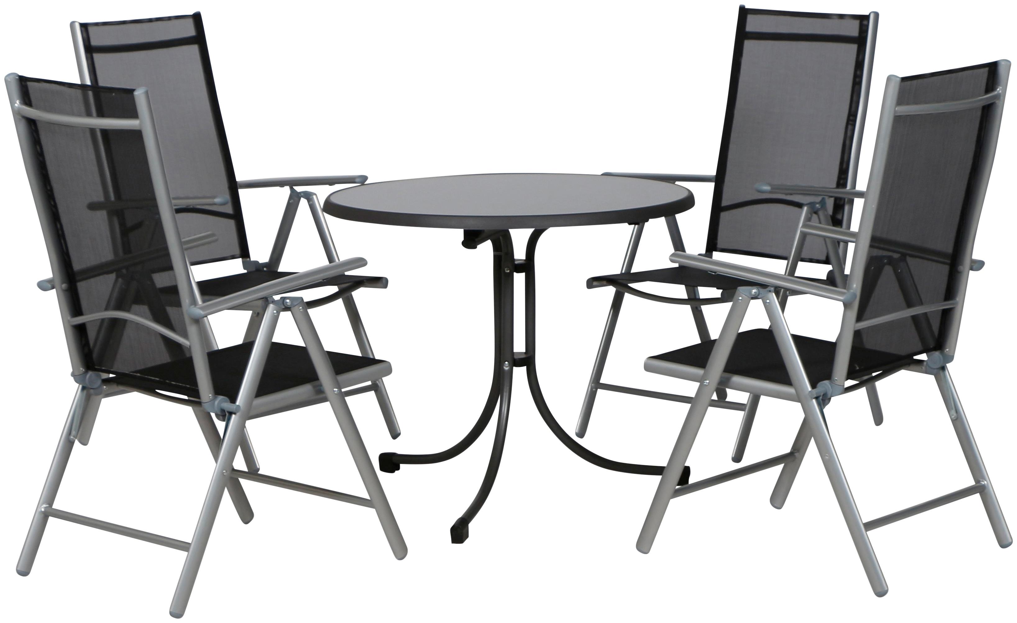 Gartenmobelset Saturn Ii 5 Tlg Alu Stahl 4 Stuhle Tisch O