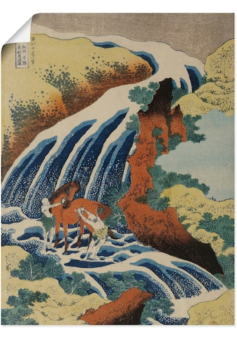 Artland Wandbild »Männer waschen ein Pferd am Wasserfall«, Gewässer, (1 St.), in... kaufen