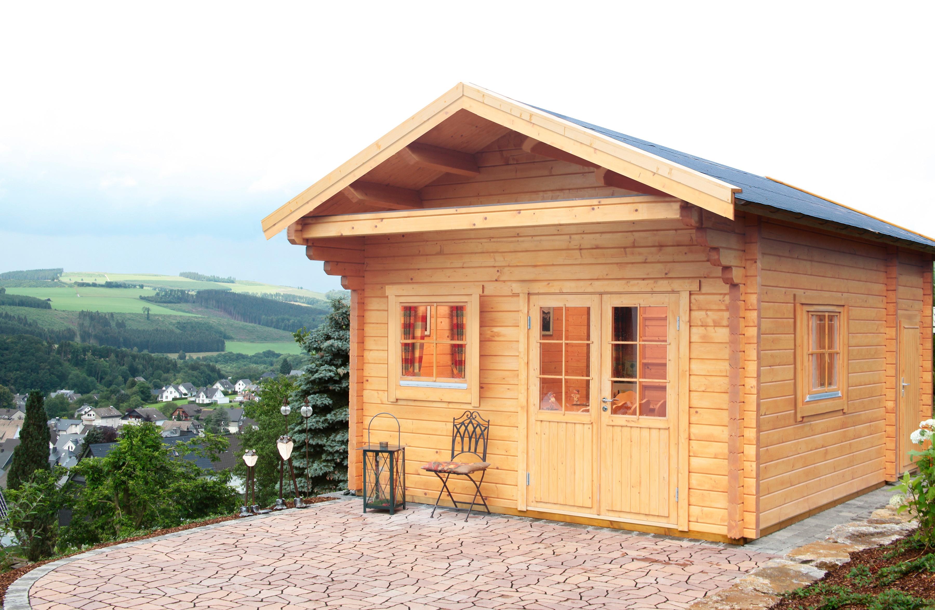 WOLFF FINNHAUS Set: Gartenhaus »Göteborg 70-C Klassik«, BxT: 464x691 cm, inkl. Fußboden und Schlafboden | Garten > Bodenbeläge-Garten | Natur | Fichte - Hölzer | WOLFF FINNHAUS