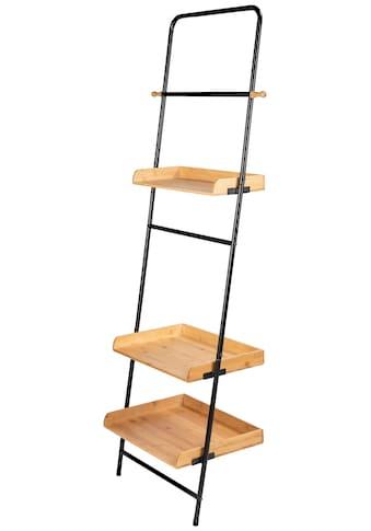 WENKO Leiterregal »Loft«, BxTxH: 56x40x180 cm, mit Bambusböden kaufen