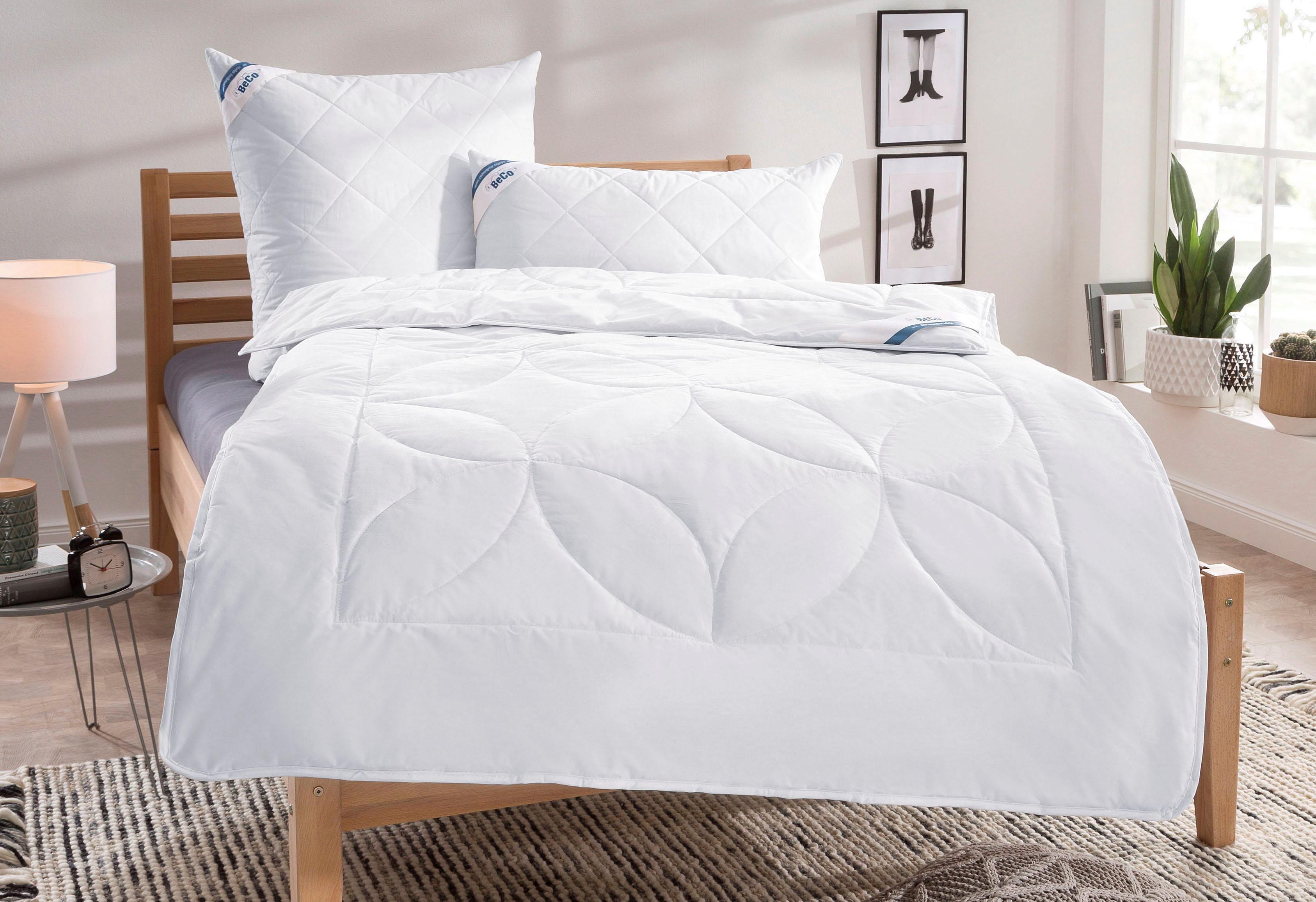 Naturfaserbettdecke Schurwolle 100 Beco leicht Füllung: 100% Schurwolle Bezug: 100% Baumwolle | Heimtextilien > Decken und Kissen > Bettdecken | Weiß | Beco