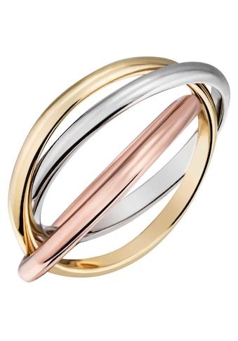 Firetti Goldring »verschlungene Tricolor - Optik, glanzvoll, massiv« kaufen