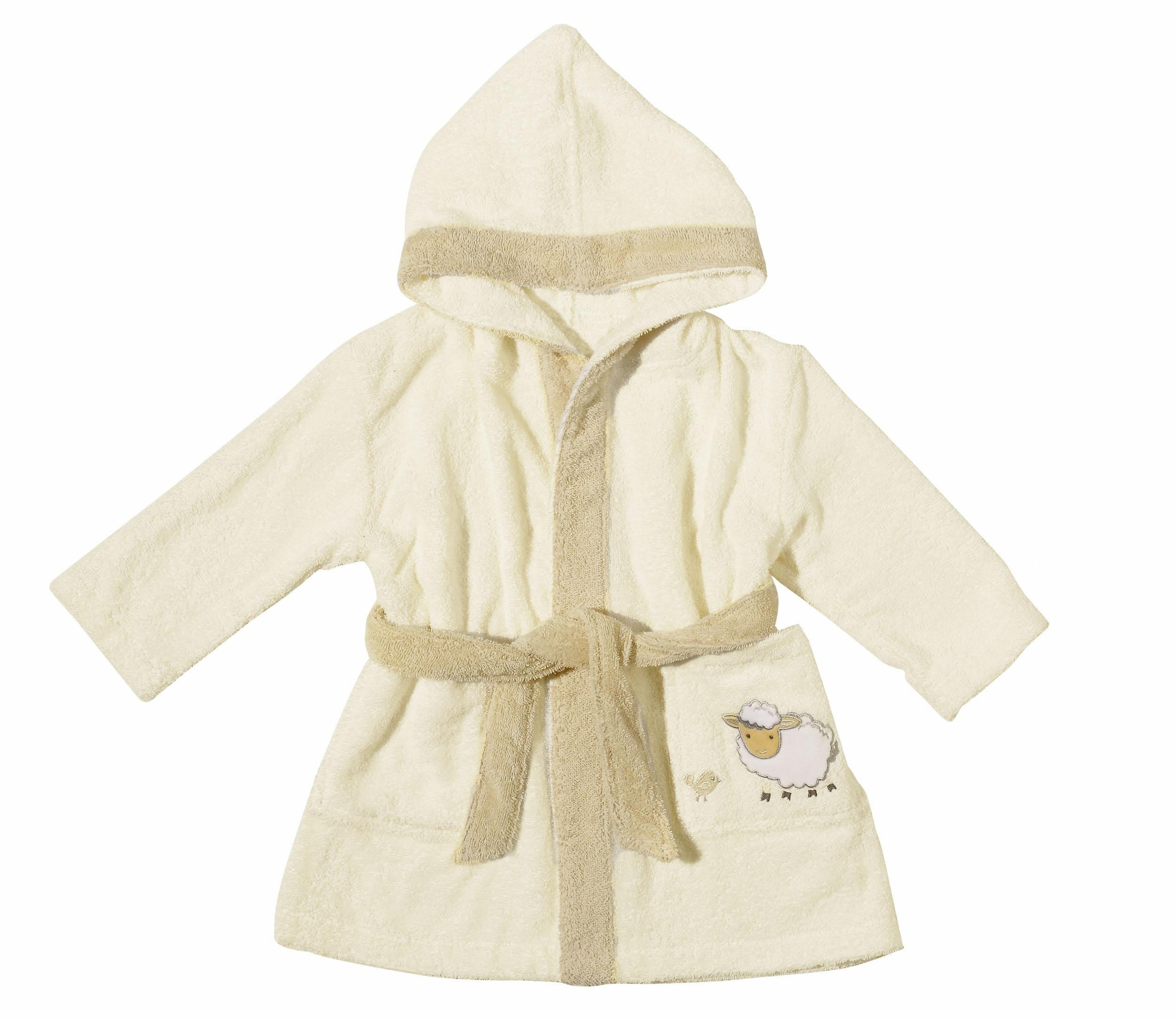 Kinderbademantel, Egeria, »Sheep«, mit Motiv | Bekleidung > Bademode > Bademäntel | Natur | Baumwolle | QUELLE