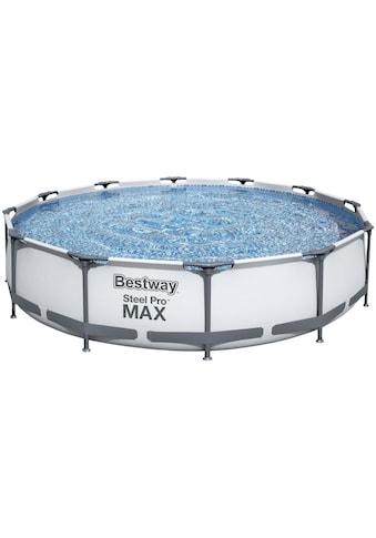 Bestway Rundpool »Steel Pro MAX™ Frame«, (Set), ØxH: 366x76 cm kaufen