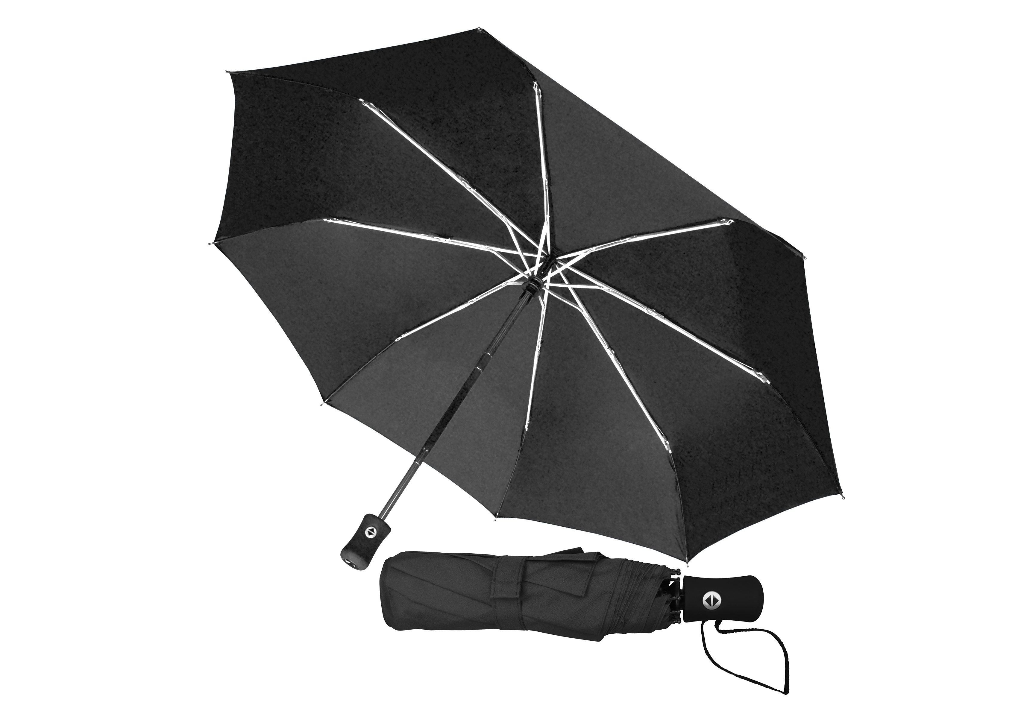 Euroschirm, Taschenregenschirm Taschenschirm | Accessoires > Regenschirme > Taschenschirme | Schwarz | Kunststoff - Polyester - Aluminium - Glasfaser | EUROSCHIRM®