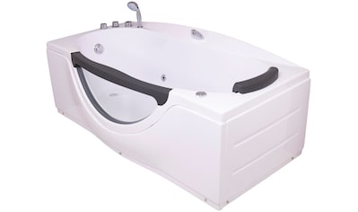 SANOTECHNIK Badewanne »NASSAU«, Whirlpool mit Fenster, 170x90x68 cm kaufen
