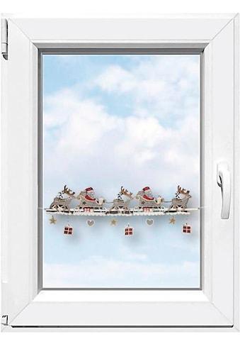 """Stickereien Plauen Scheibengardine »Weihnachtsmann«, Fensterdekoration """"Weihnachtsmann"""" kaufen"""