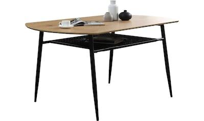 SalesFever Esstisch, Ablagefläche aus Metall und Polyrattan kaufen