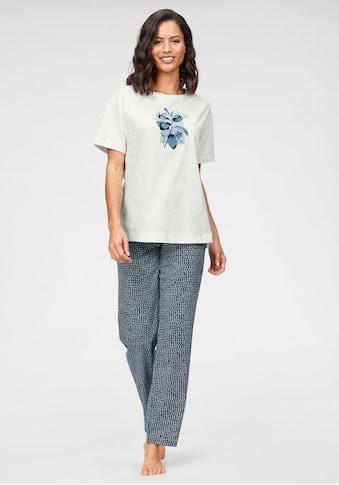 Triumph Pyjama, mit Blätterdruck und gepunkteter Hose kaufen