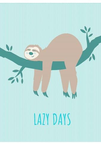 BIEDERLACK Wohndecke »Lazy Days«, mit einem Faultier kaufen