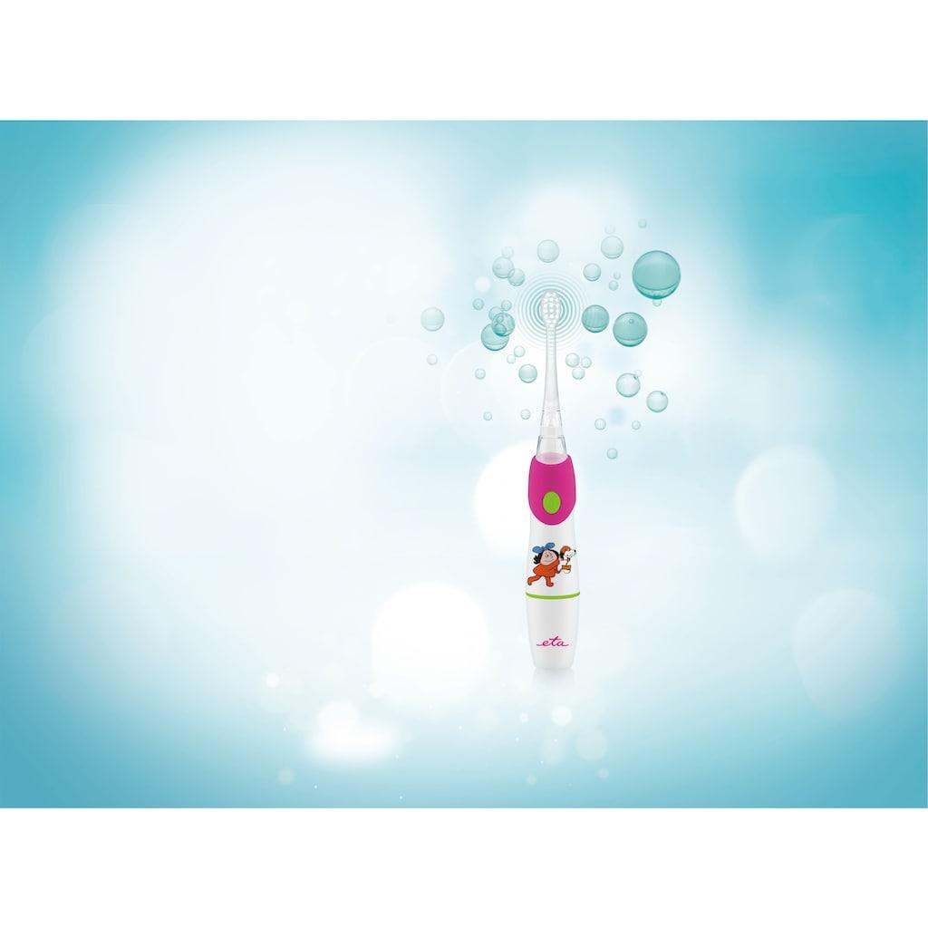 eta Elektrische Kinderzahnbürste »SONETIC Kinder Schallzahnbürste ETA071090010«, 2 St. Aufsteckbürsten, Für Kinder 3 -10 Jahre geeignet