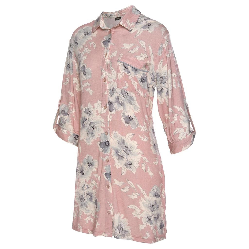 LASCANA Nachthemd, in klassischer Form mit Blumenprint