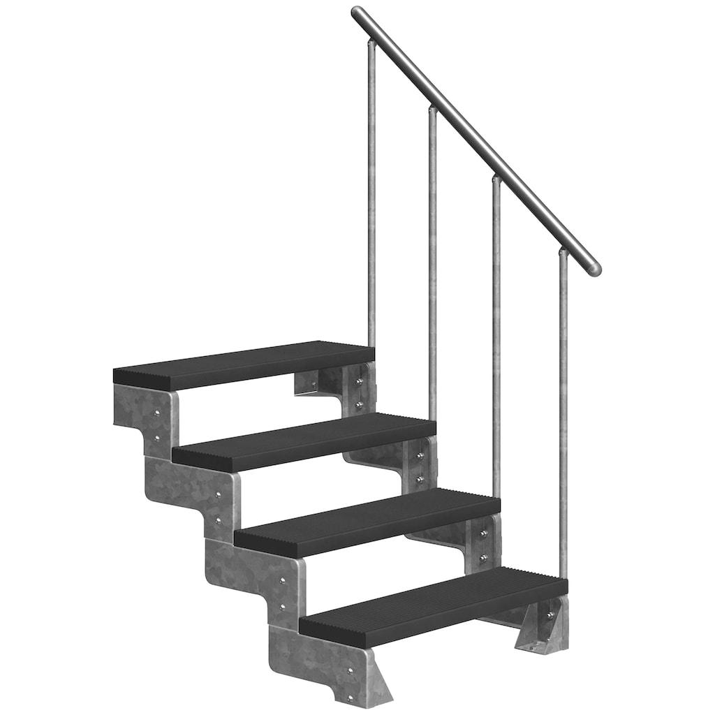 DOLLE Außentreppe »Gardentop«, für Geschosshöhen bis 88 cm, TRIMAX®-Stufen 80 cm