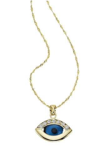 Firetti Kette mit Anhänger »Das Auge Gottes / Magisches Auge«, mit Kristallsteinen und... kaufen
