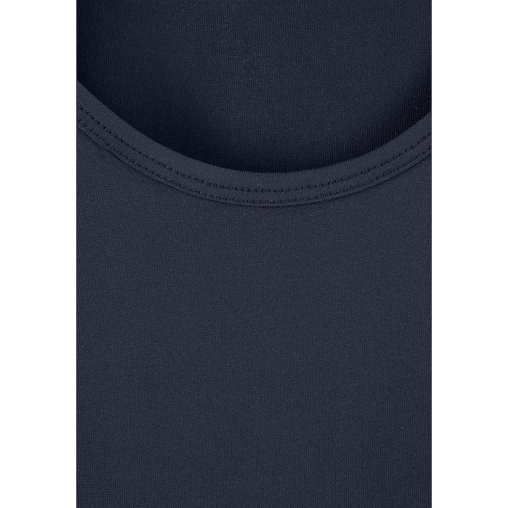vivance active Tanktop, (3er-Pack), aus weicher Microfaser