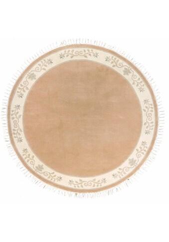 LUXOR living Wollteppich »Adour«, rund, 18 mm Höhe, reine Wolle, handgeknüpft, mit... kaufen