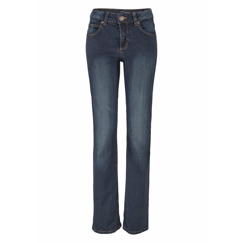 Arizona Bootcut-Jeans »Svenja - Bund mit seitlichem Gummizugeinsatz«, High Waist