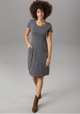 Aniston SELECTED Jerseykleid, mit bunten Punkten kaufen