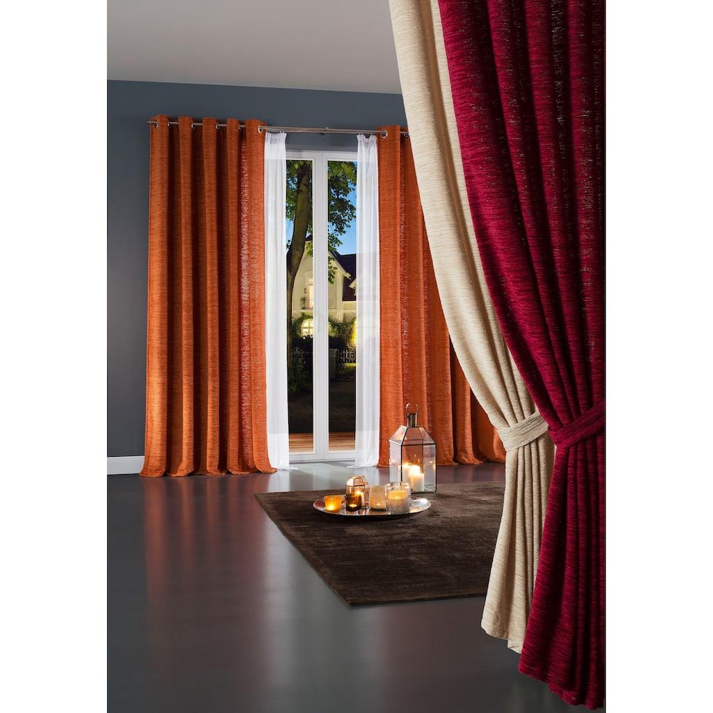 Raffhalter »Thermo-Chenille 288g/m²«, Wirth, passend für Gardinen