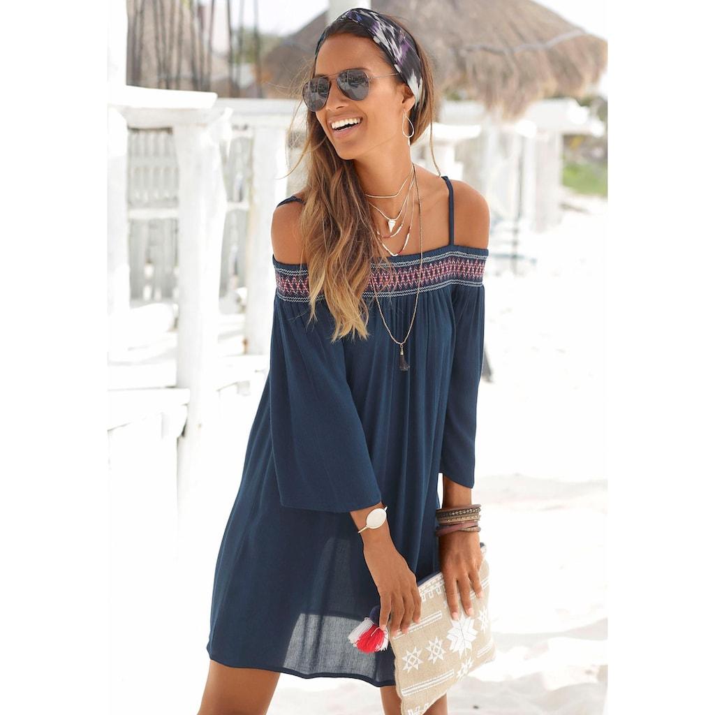 s.Oliver Beachwear Strandkleid, aus gewebter Viskose