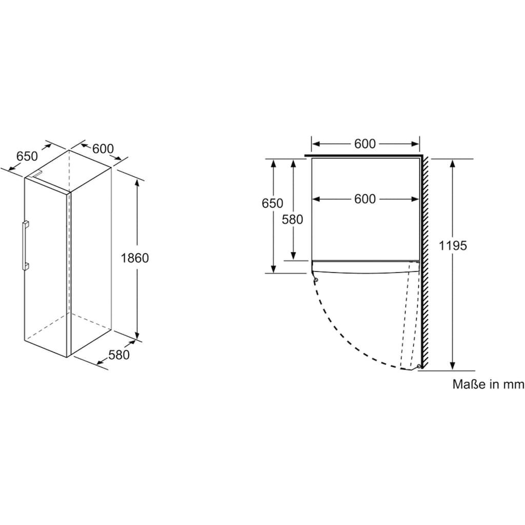 BOSCH Gefrierschrank »GSN36VFP«, 4, 186 cm hoch, 60 cm breit