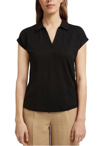 Esprit Collection Poloshirt, mit überschnittenen Schultern und aus Reinem Leinen-Jersey kaufen