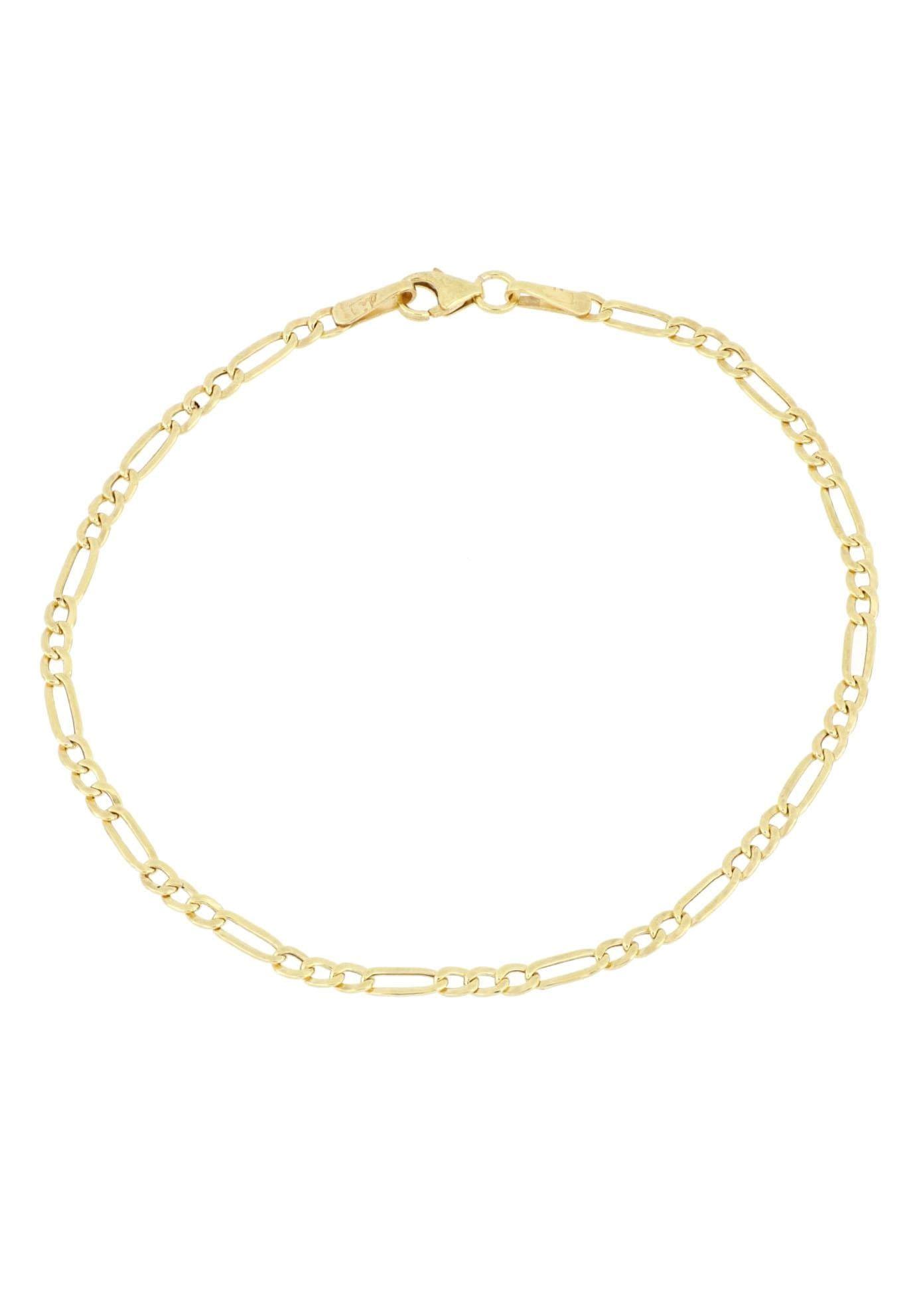 Firetti Goldarmband »in Figarokettengliederung, 2-fach diamantiert, poliert«   Schmuck > Armbänder > Goldarmbänder   FIRETTI