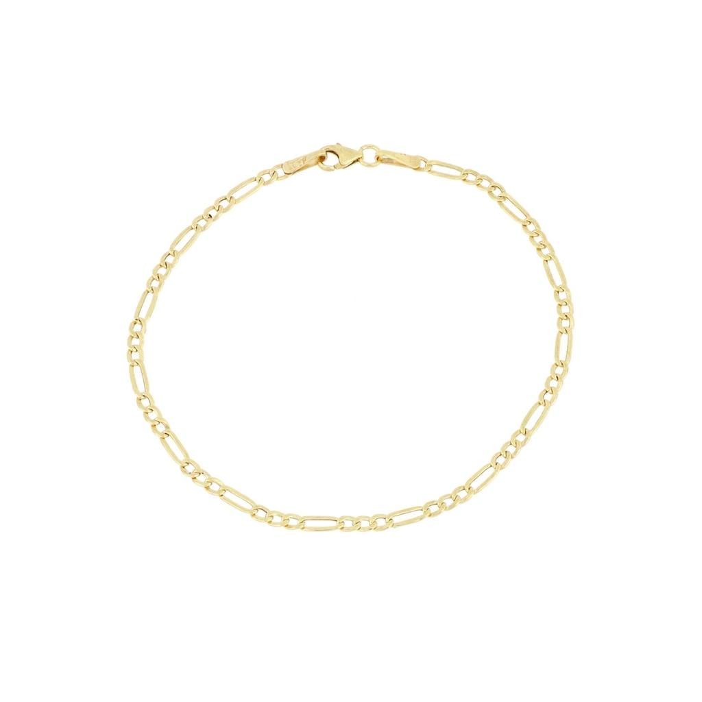 Firetti Goldarmband »in Figarokettengliederung, 2-fach diamantiert, glänzend, ca. 2,5 mm breit«