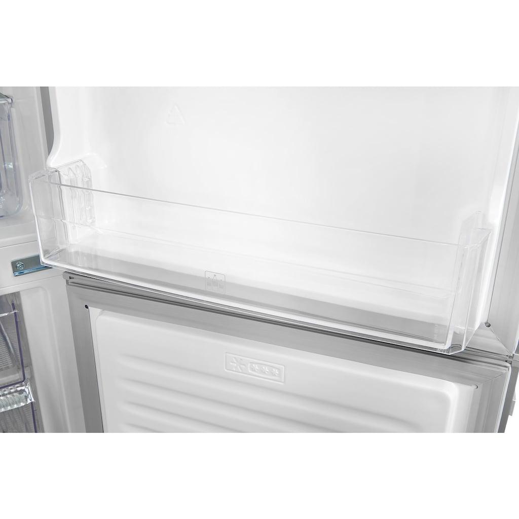 exquisit Kühl-/Gefrierkombination »KGC270-70-H-040E silber«