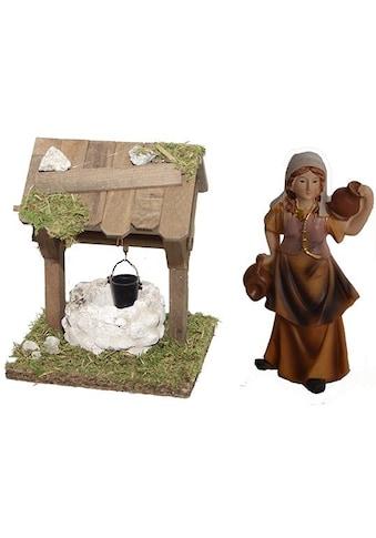 Alfred Kolbe Krippen - Zubehör »Brunnen und Figur Magd mit Krug.« (Set, 2 Stück) kaufen