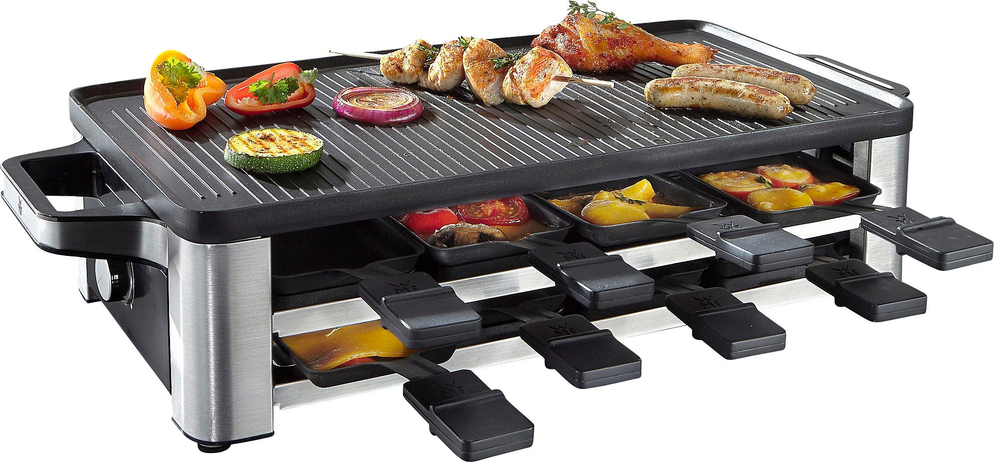 WMF Raclette LONO, 8 Raclettepfännchen, 1500 Watt | Küche und Esszimmer > Küchengeräte > Raclette | Silberfarben | WMF