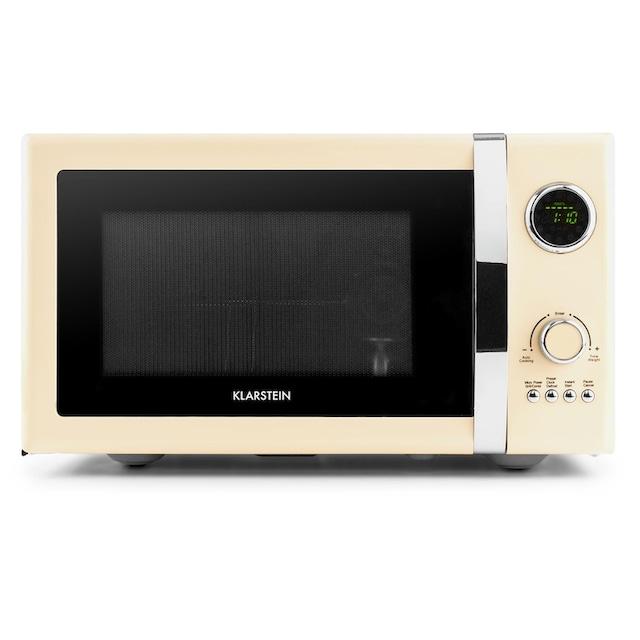 Klarstein 2in1 Mikrowellen-Ofen Retro mit Grillfunktion Grillrost 23L »Fine Dinesty«