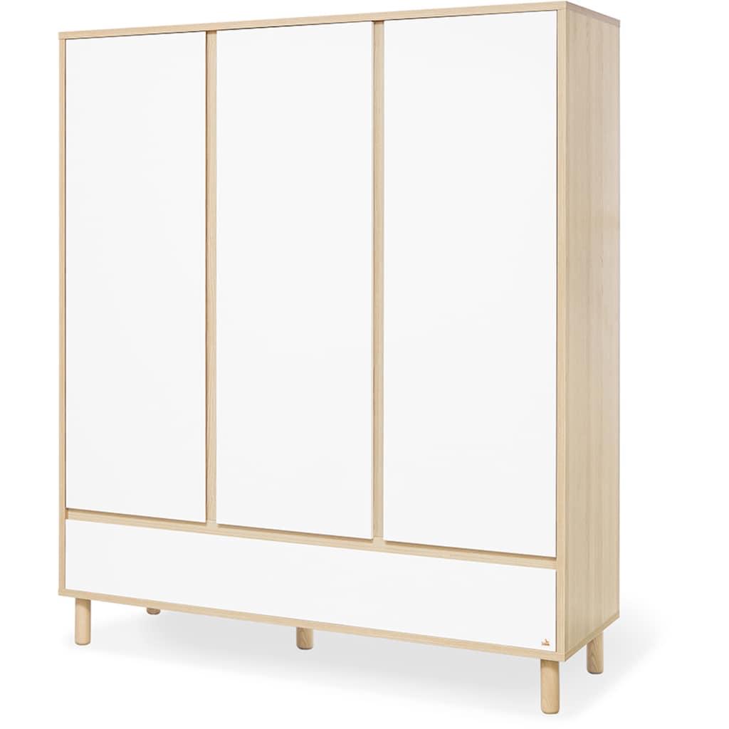 Pinolino® Babyzimmer-Komplettset »Flow«, (Set, 3 St.), breit groß; mit Kinderbett, Schrank und Wickelkommode; Made in Europe