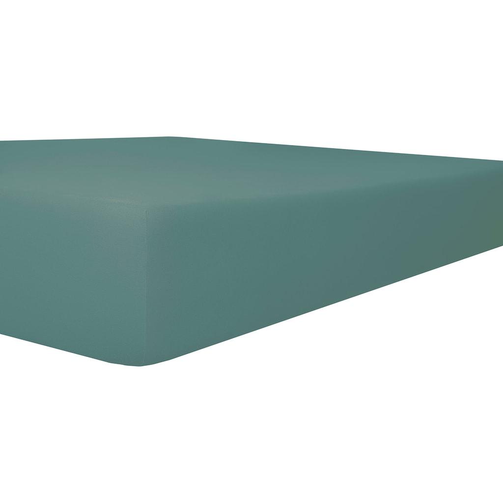 Kneer Spannbettlaken »Vario Stretch Topper«, Mit Tunnelsaum
