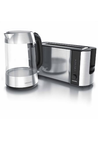 Arendo Frühstücks-Set »Wasserkocher / Toaster«, 2-teilig in silber kaufen