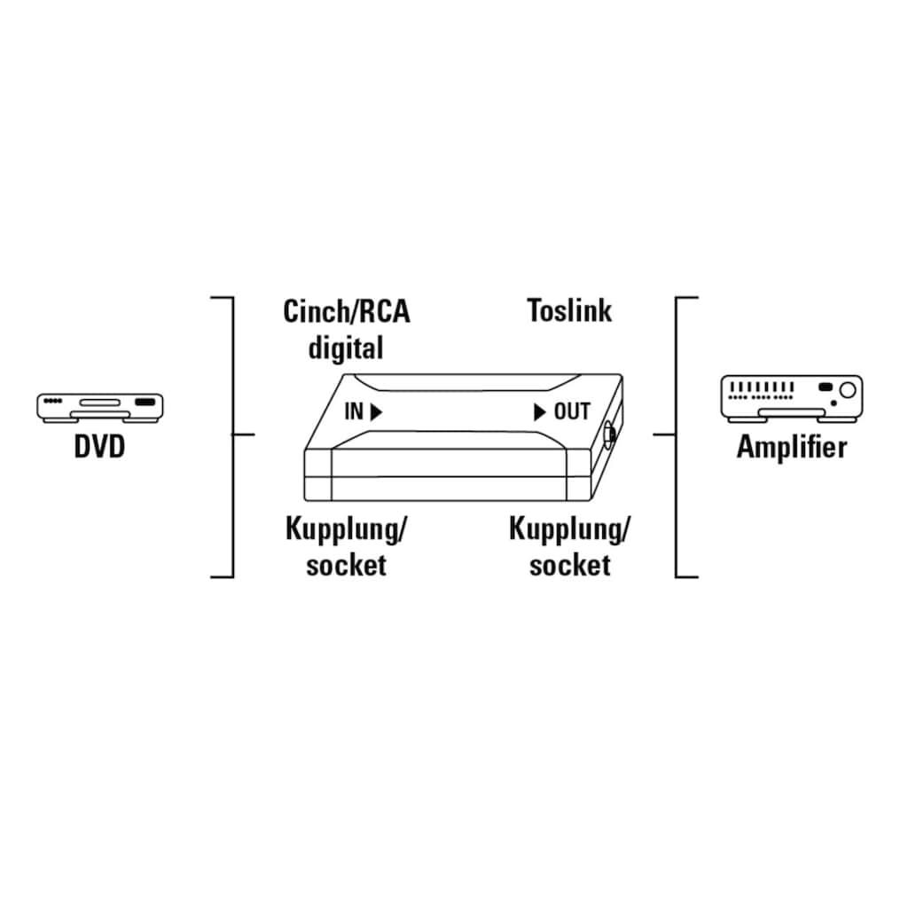 Hama Adapter »Digital-Converter«, Digital-Konverter, Koax IN/Optical OUT ODT (Toslink)