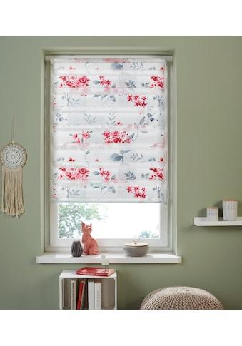 my home Doppelrollo »Fleur«, Lichtschutz, ohne Bohren, freihängend, im Fixmaß kaufen