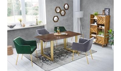 SIT Esstisch »Tops&Tables«, mit elegantem goldfarbenem Gestell kaufen