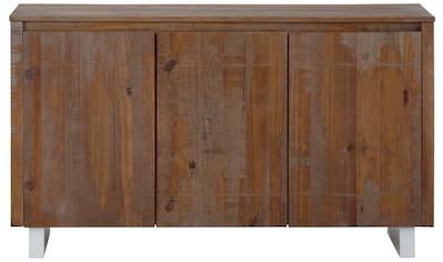 Home affaire Sideboard »Lagos«, aus schönem massivem Kiefernholz, mit weiß lackiertem... kaufen