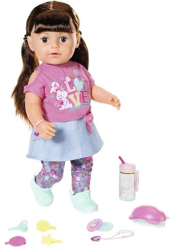 Baby Born Babypuppe »Soft Touch Sister 43ch, brünett«, interaktiv kaufen